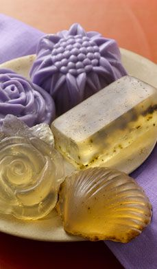 Make these rich, aromatic Lavender and Rosemary Soaps using a square muffin pan or soap molds. Keep them on hand for gifts but be sure to make them at least one month in advance. #mothersday #tips #diy #craft