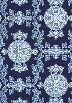 Buy Halie Navy, a feature wallpaper from Thibaut, featured in the Enchantment collection from Fashion Wallpaper. Navy Wallpaper, Feature Wallpaper, Fashion Wallpaper, Painting Wallpaper, Fabric Wallpaper, Textures Patterns, Fabric Patterns, Blue And White Fabric, Enchanted Home