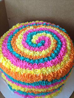 Fun cake:) tye dye