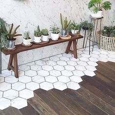 Tiles into wood