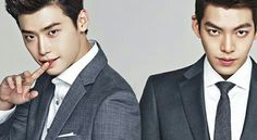 Lee Jong Seok's and Kim Woo Bin's popularity continues to skyrocket, with the School 2013 actors being in demand for dramas and fashion endorsements, like Trugen. They are the new faces… Kim Joon, Joon Gi, Lee Jong Suk Kim Woo Bin, Kim Wo Bin, School 2013, Jung Il Woo, Kim Bum, Hyun Bin, Asian Men