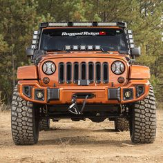 The Rugged Ridge Elite Light Guards combine high quality cast aluminum construction and premium textured powder coat finishes with a unique patent-pending design that stands out boldly in any crowd. Jeep Jl, Jeep Cars, Jeep Truck, Jeep Wrangler Jk, Jeep Wrangler Unlimited, Orange Jeep, Atv Car, Rugged Ridge, Jeep Gladiator