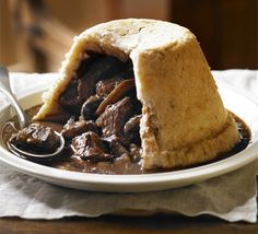 Proper (Braising) Steak & Mushroom Pudding _ Suet pastry is one of life's great inventions - fill your basin with beef and ale gravy to create the old-fashioned comfort classic
