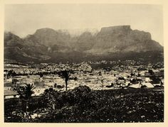 This is an original 1930 photogravure of Cape Town (Kaapstad, iKapa), South Africa, located at the foot of Table Mountain. Period Paper is pleased to offer an exceptional collection of historic origin Landscape Stairs, Landscape Architecture, Old Pictures, Old Photos, Banff National Park, National Parks, Landscape Design Plans, Cape Town South Africa, Landscape Photography Tips