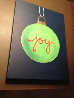 Christmas Joy Canvas Simple PaintingsChristmas
