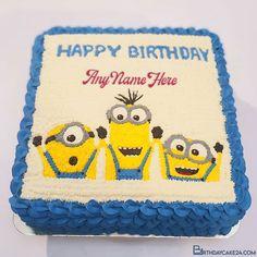 Happy Birthday Minions Cake With Name Generator Happy Birthday Minions, Cake Templates, Cake Name, Name Generator, Birthday Cake, Names, Cake Designs, Birthday Cakes, Cake Birthday
