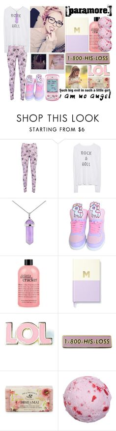 """""""there's chemical's in the clouds"""" by xxteenage-dirtbagxx ❤ liked on Polyvore featuring Boohoo, Lord & Taylor, Band of Outsiders, Hello Kitty, philosophy, Kate Spade, Valley Cruise Press, Pré de Provence and MANGO"""