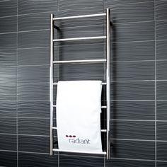 Radiant Heated Towel Rails & Non-Heated Towel Racks & Ladders Bathroom Inspo, Bathroom Ideas, Small Bathroom, Bathrooms, Towel Racks, Heated Towel Rail, Radiant Heat, Ladders, Faucet