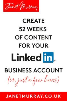 52 Weeks Of LinkedIn Content - In Just A Few Hours? - It is possible to create 52 weeks of LinkedIn content for your LinkedIn business account in just a - Content Marketing Strategy, Marketing Plan, Sales And Marketing, Online Marketing, Media Marketing, Linkedin Business, Small Business Marketing, Business Tips, Business Video