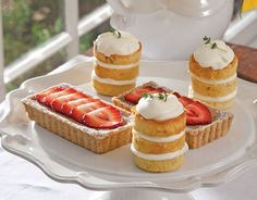 Topped with fresh strawberry slices, these sweet buttermilk tartlets from TeaTime Magazine are a feast for the eyes and the tastebuds.