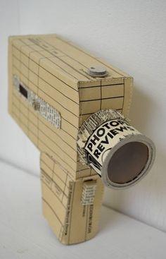 Cámara-Camera. Artista Jennifer Collier #Reciclaje #Arte #jennifercollier