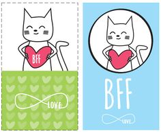 Free Printable bff. Tarjetas mejores amigas (bff)…
