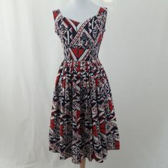 Blue Hawaiian, Red White Blue, 1950s, Vintage Fashion, Summer Dresses, Awesome, Cotton, Etsy, Summer Sundresses