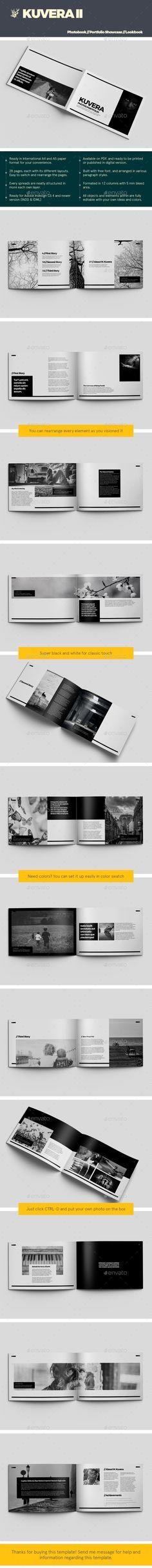 Kuvera II A4 & A5 Photobook & Portfolio Showcase - #Photo #Albums Print #Templates Download here: https://graphicriver.net/item/kuvera-ii-a4-a5-photobook-portfolio-showcase/19277753?ref=alena994