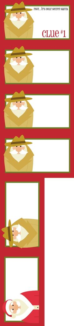 Free Printable Secret Santa Gift Tags