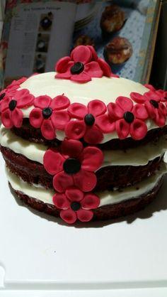 Red velvet poppy cake
