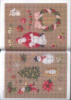 Gallery.ru / Фото #29 - Pere Noel - Orlanda Christmas Love, Christmas Cross, Winter Christmas, Xmas, Christmas Ornaments, Cross Stitch Samplers, Cross Stitching, Cross Stitch Patterns, Needlework