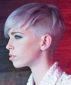 felnyírt női frizurák - oldalt felnyírt frizura