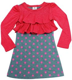 Designer girl clothing - Hootkid - Fancy & Frill Polke Dot Dress Price: Was $39.95 Now $ 32.95 PLUS an additional 25% off deducted automatically at checkout!  Add a splash of fancy to your little ones day with this super sweet Fancy & Frill Polke Dot Dress by Hootkid!  Wear alone or with leggings!  https://www.littlebooteek.com.au/product/hootkid-fancy-frill-polke-dot-dress . Designer girl clothing - Hootkid