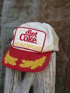90s Diet Coke Racing Team Cap // V8 Supercar Team Mesh Hat // BMW Sponsor