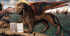 The Lion of St Mark, painted in 1516 for the Magistrato dei Camerlenghi in Rialto and today in the Doges' Palace