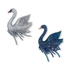 A PAIR OF COLOURED DIAMOND, DIAMOND, SPINEL AND RUBY BROOCHES