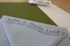 Custom Calligraphy Whimsical Addressed Envelopes. $3.00, via Etsy.