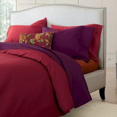 Charming and Decorative with Colorful Decorative Pillows For Bed Floral Footboard Design and others: Modern Minimalist Bedroom Red Purple Floral Decorative Pillows For Bed On The Charming And Decorative Pillows For Bed To Give You Deep Sleep ~ 2-quick.com Bedroom Designs Inspiration