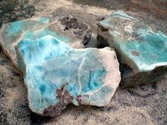 Larimar (Antlantis Stone) Found only in the The Dominican Republic. Larimar is a stone for Earth healing.  It represents peace and clarity, emitting an energy of healing and love.  It has been used to stimulate the higher chakras.