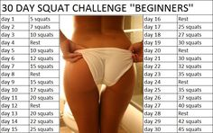 30 day squat challenge for beginners
