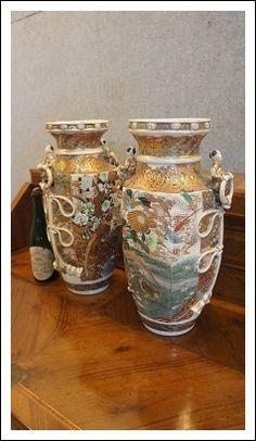 Coppia vasi giapponesi in ceramica