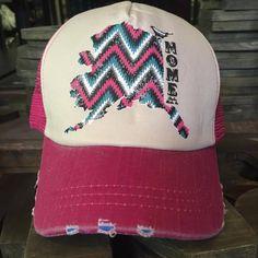 "Alaska Chicks Co - Alaska ""Home"" Mesh Trucker Hat - more color options, $15.00 (http://www.alaskachicks.com/alaska-home-mesh-trucker-hat-more-color-options/)"