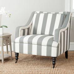 Striped Arm Chair.