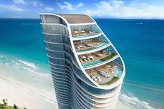 Проект отеля Ритц-Карлтон от Arquitectonica, Флорида, США.
