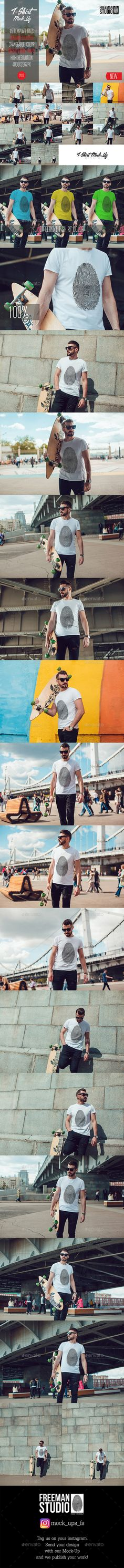 Buy Men's T-Shirt Mock-Up 2017 by Freeman_Studio on GraphicRiver. Men's T-Shirt Mock-Up 2017 ______________________________________________________________ Easy to place your de. Mockup Templates, Print Templates, Design Templates, T Shirt Design Template, Mockup Photoshop, Hipster Logo, Shirt Mockup, Best Graphics, Information Graphics