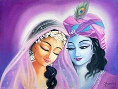 Radha Krishna Painting - Deep Love by Alexandra Bilbija Lord Krishna Images, Radha Krishna Pictures, Radha Krishna Photo, Krishna Photos, Krishna Art, Radhe Krishna, Shree Krishna, Krishna Leela, Baby Krishna