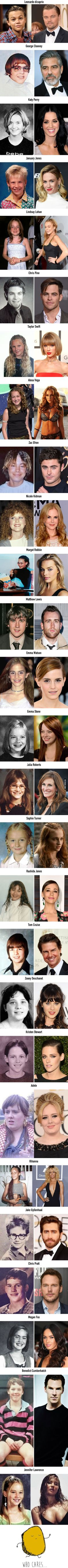 CAPTION: 27 celebrities who blossomed after puberty. REAL CAPTION: 27 celebrities who were either already cute or blossomed after money and makeup:)) Before And After Puberty, Turn Down For What, Arte Nerd, Funny Memes, Hilarious, Funny Quotes, Celebrities Then And Now, Mind Blown, Laugh Out Loud