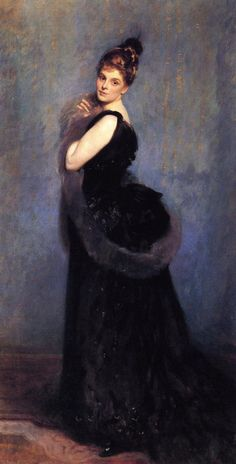 """""""Mrs. George Gribble"""", 1888, by John Singer Sargent (American, 1856-1925). Norah Royds (1859-1923) married George James Gribble (of London) on July 27, 1881. Seven years later, when she was about twenty-nine, Sargent painted her."""