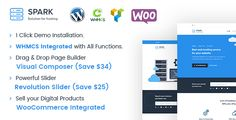 Spark - Responsive WHMCS Hosting WordPress Theme by dhrubok    Spark is a Responsive WHMCS Hosting WordPress Theme. It is fully responsive, made with Bootstrap framework. With the include