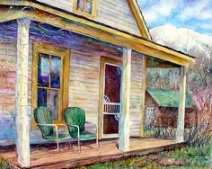 Days Gone By Painting by Mary Giacomini Prints available, click on image