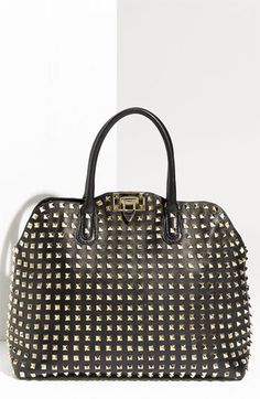 Valentino 'Rockstud' Double Handle Shopper