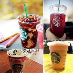 Various Starbucks Beverages   19 Secret Menu Items To Conquer At Fast Food Chains