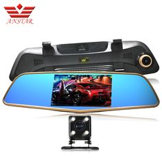 ANSTAR Car Dvr Camera RearView Mirror Video Recorder Auto Camera Dual Lens FHD 1080P DashCam Automobile DVRs Parking Assistance