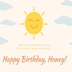Brighten up your partner's #birthday with this beautiful wish. #HappyBirthday #free #cards #greetings