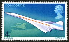 First Flight of Concorde stamp – 4d value, designed by M. and S. Goaman, issued 3 March 1967.