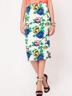 c3a684d27 GLAMOROUS Rose Print Pencil Skirt by koovs.com. KOOVS · midi skirt online  india