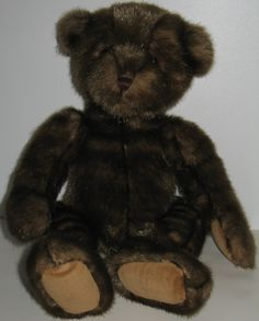 A rare Gund teddy bear from the now defunct Eaton's department store in Canada, this bear is the 1999 Woodland Nutcracker who originally would have been dressed as the Nutcracker from the children's picture book by Avril and Frances Tyrrell. #gund #nutcracker #teddybear