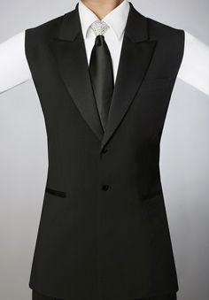 Dancemo Long Ballroom Dance Vest 92015005| Dancesport Fashion @ DanceShopper.com