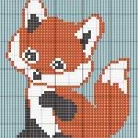 fox c2c baby blanket - Stitch Fiddle