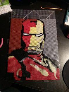 Iron Man perler bead sprite